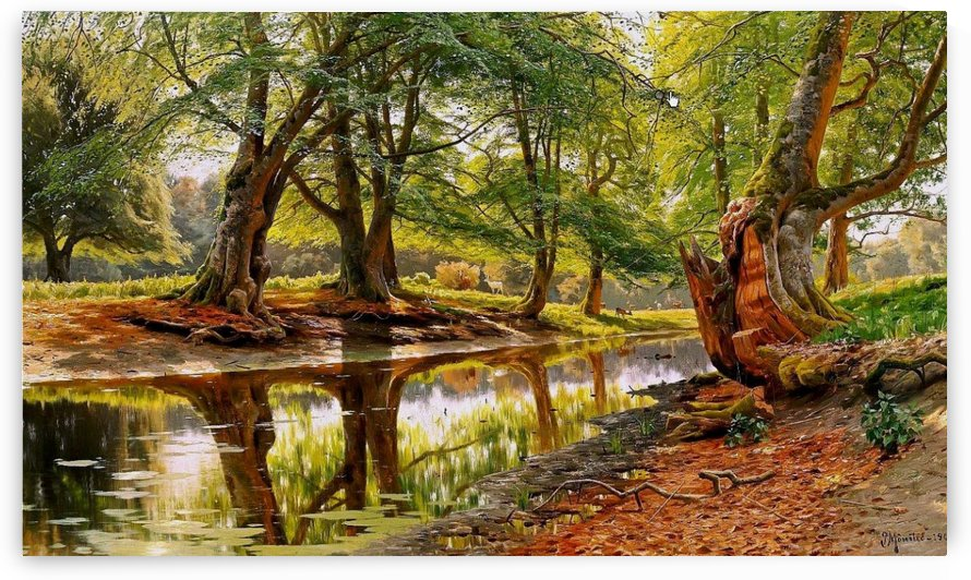 A forest stream,1907 by Peter Mork Monsted