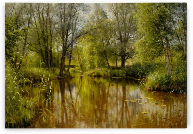 Landscape in a sunny spring day by Peter Mork Monsted