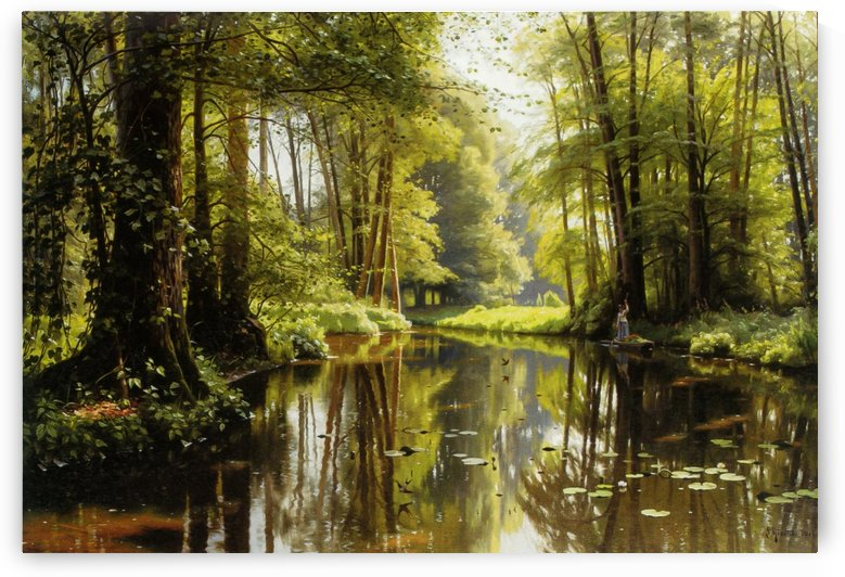 Landscape during a sunny spring day by Peter Mork Monsted