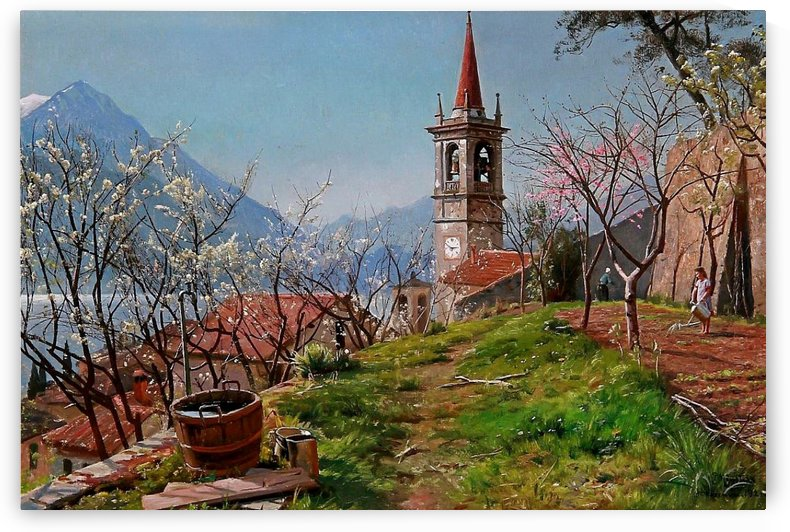 Spring on Lake Como 1921 by Peter Mork Monsted