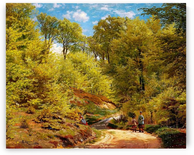 Path in the forest at Eagles Nest in Marselisborg forest by Peter Mork Monsted