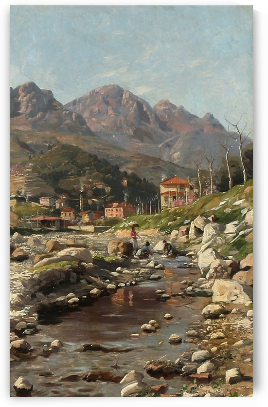 Vallee du Parti fra Borrigo, Sydost Frankrig by Peter Mork Monsted