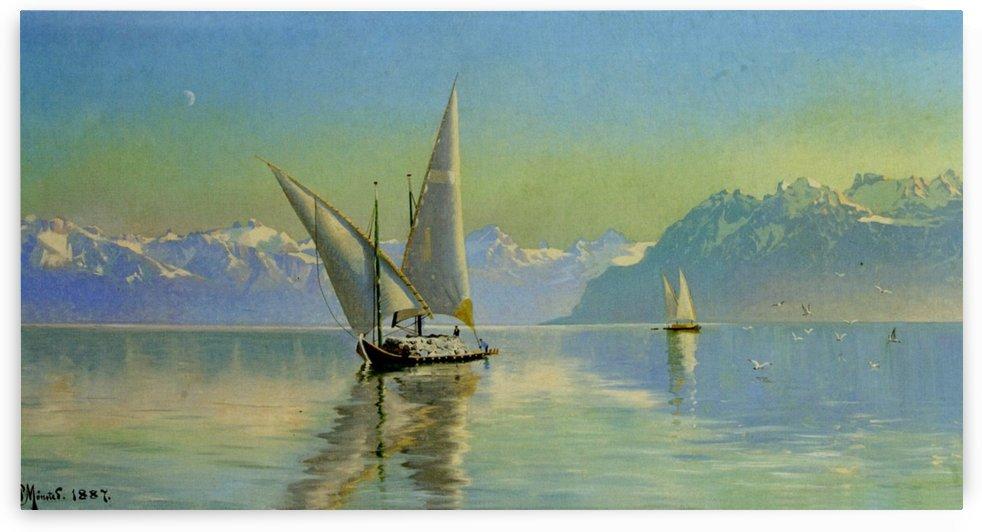 View at Lake Geneva, Switzerland by Peter Mork Monsted