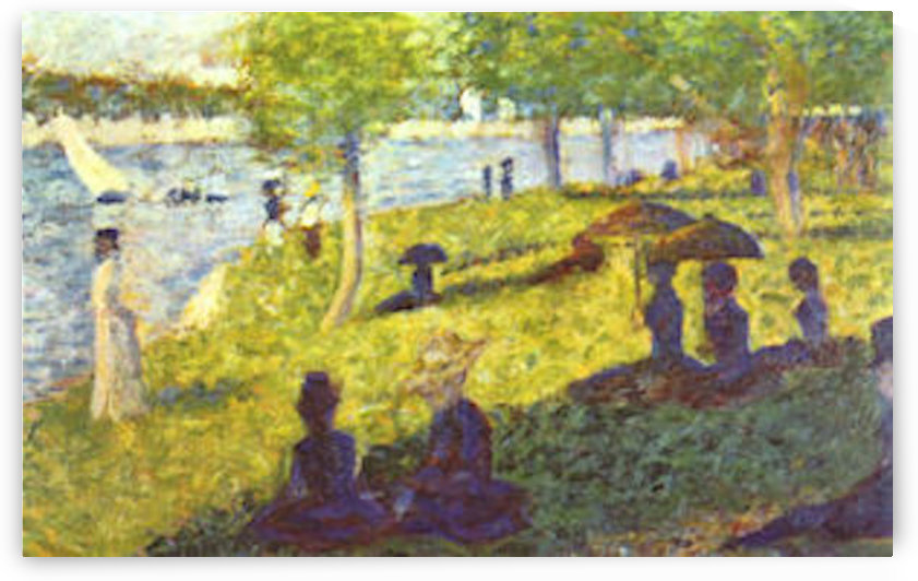 One Sunday on La Grande Jatte, draft by Seurat by Seurat