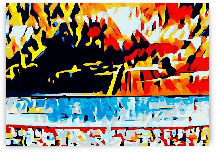summer beach sunset geometric pattern abstract by TimmyLA