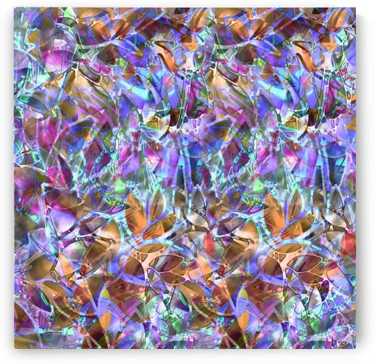 Floral Abstract Stained Glass G268 by Medusa GraphicArt