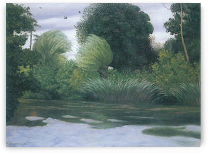 Pacy-sur-Eur by Felix Vallotton by Felix Vallotton