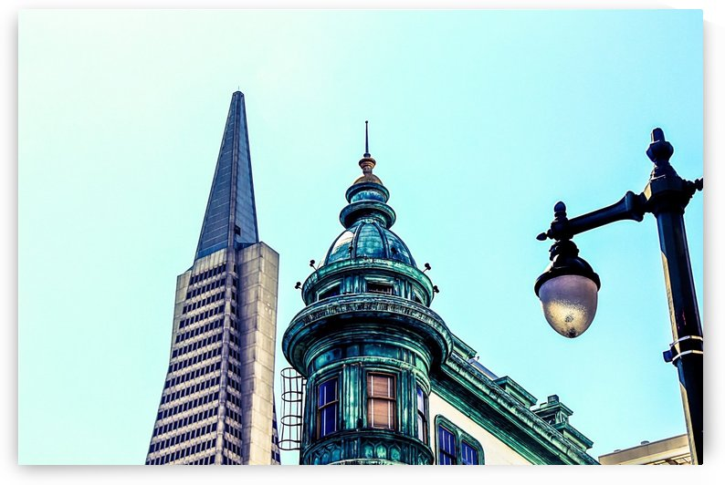 pyramid building and vintage style building at San Francisco, USA by TimmyLA
