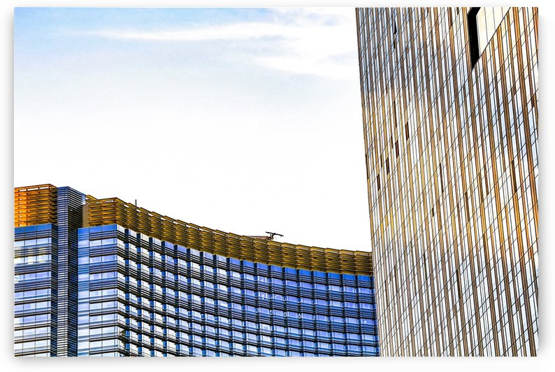 modern buildings with blue at Las Vegas, USA by TimmyLA