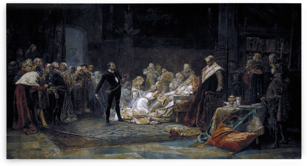 Ultima escena de Hamlet by Jose Moreno Carbonero