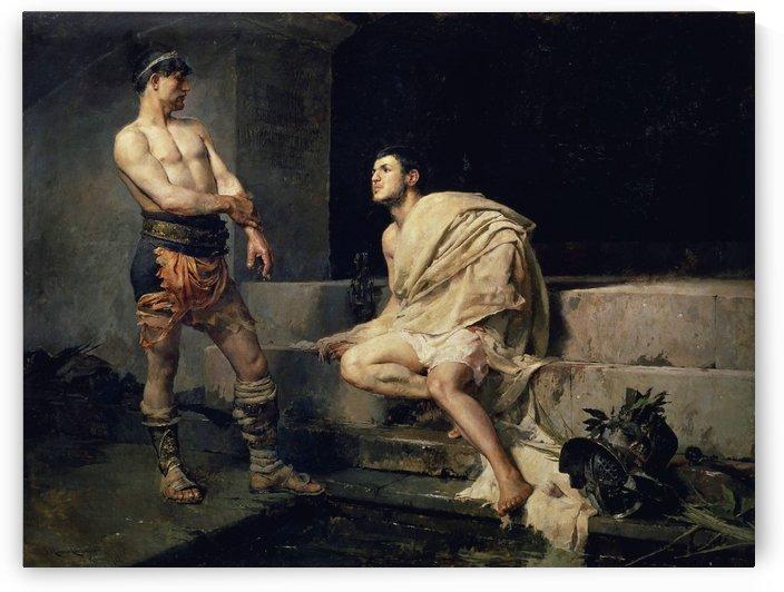 Gladiadores despues del combate by Jose Moreno Carbonero
