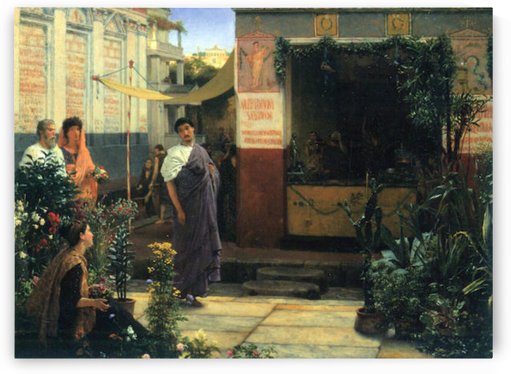 The Flower Market by Alma-Tadema by Alma-Tadema
