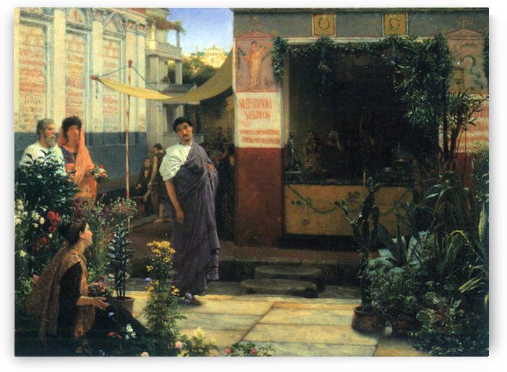 The Flower Market by Alma-Tadema by Alma-Tadema