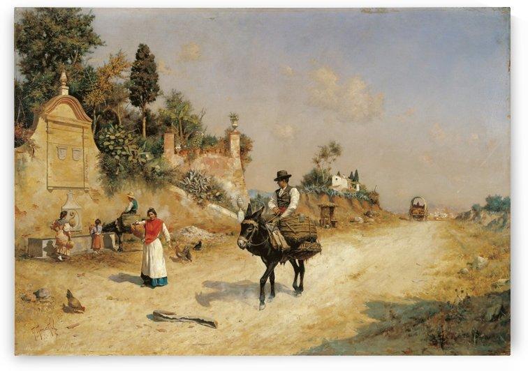 Spanish and Prado by Jose Moreno Carbonero