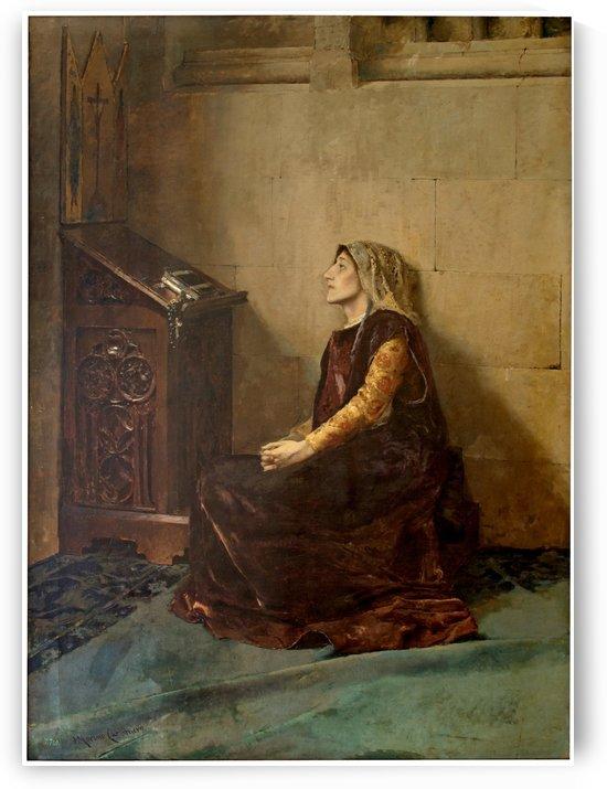 Dona Blanca de Navarra by Jose Moreno Carbonero