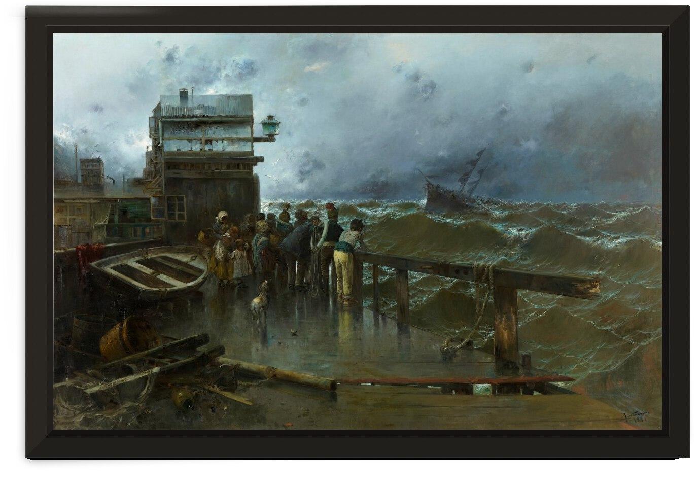 Amenaza de naufragio by Jose Moreno Carbonero