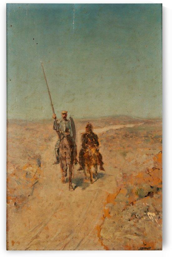 Two warriors by Jose Moreno Carbonero