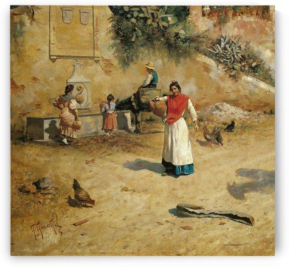 Pintura Malaguena by Jose Moreno Carbonero