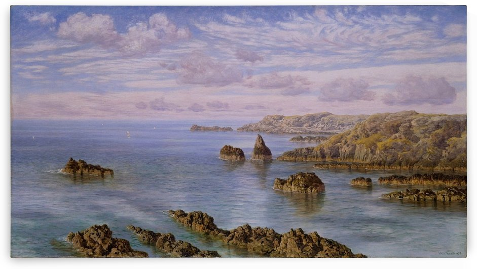 Southern Coast of Guernsey, 1875 by John Brett