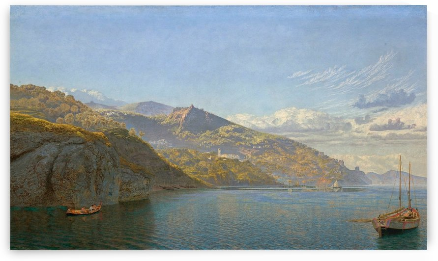 Massa, Bay of Naples, 1864 by John Brett