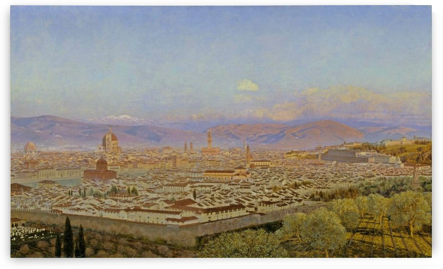Florence from Bellosguardo by John Brett