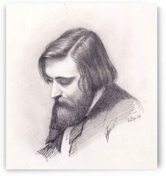 Arthur Hughes portrait by John Brett