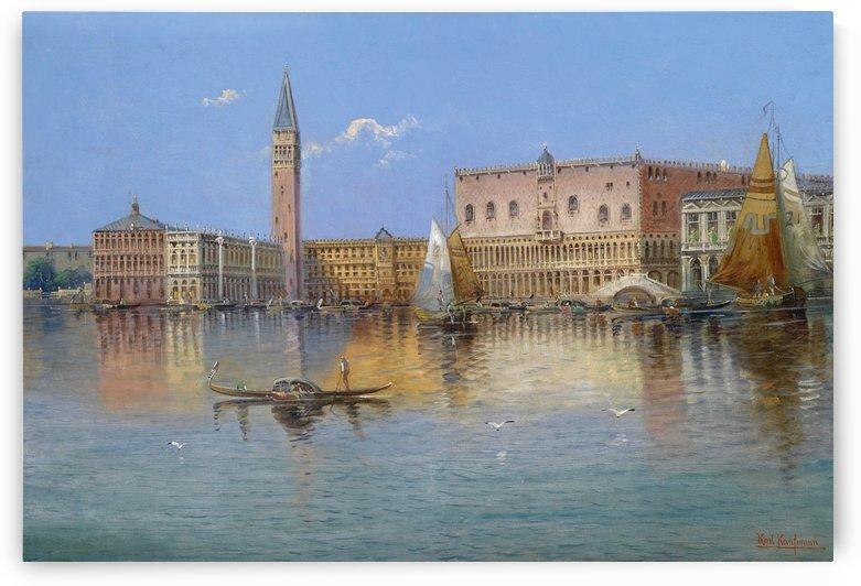 A gondola near Venice by Karl Kaufmann