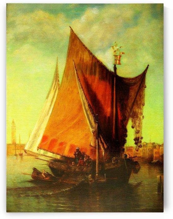 Fischer vor Venedig 1884 by Karl Kaufmann