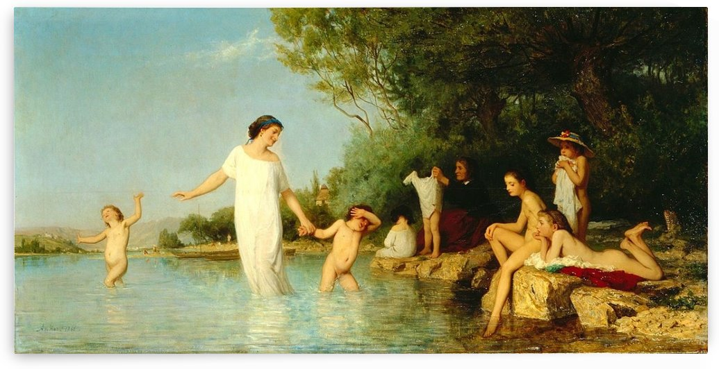 Bathers, 1865 by Anker Albert