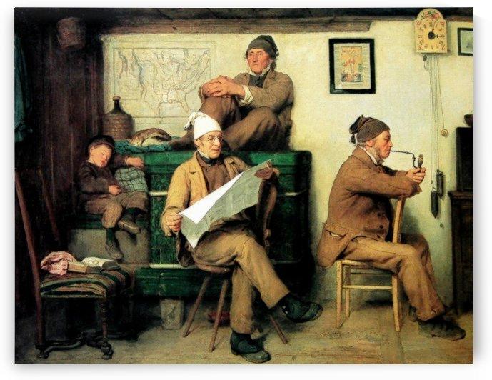 Swiss village life by Anker Albert