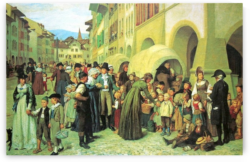 Landerkinder 1876 by Anker Albert