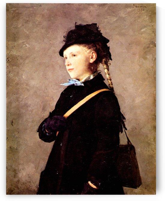 Bildnis Marie Anker 1881 by Anker Albert