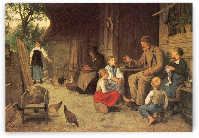 Grossvater erzahlt eine Geschichte 1884 by Anker Albert