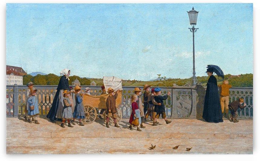 Kleinkinderschule auf der Kirchenfeldbrucke 1900 by Anker Albert