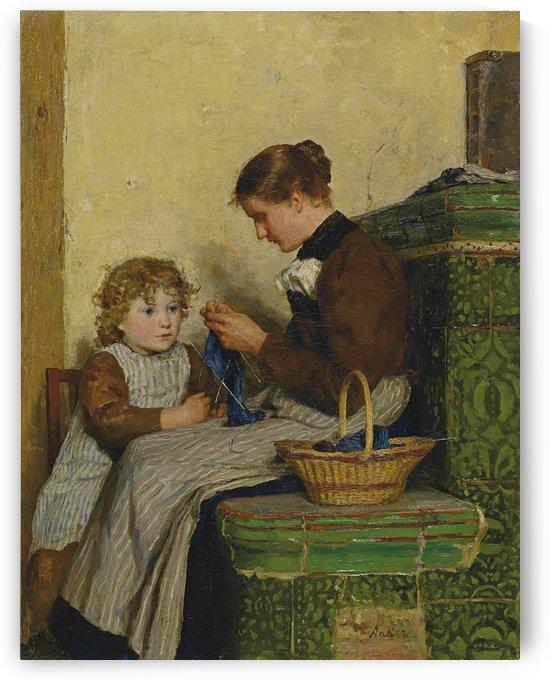 Bertha Gugger mit Tochter, 1898 by Anker Albert