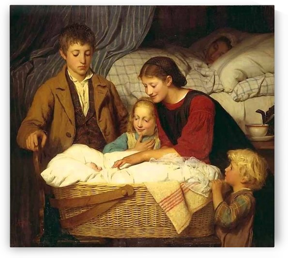 Visiting the newborn by Anker Albert