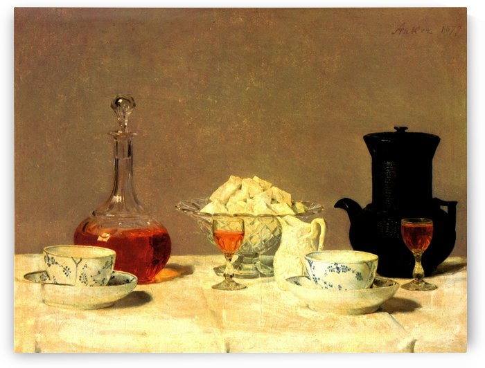 Still-Life with Coffee for Two by Anker Albert