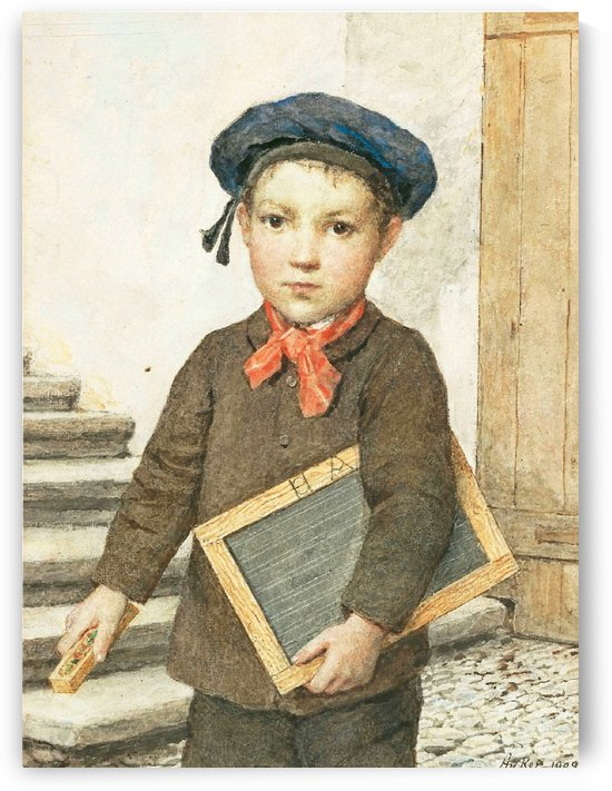 A little boy and his board by Anker Albert