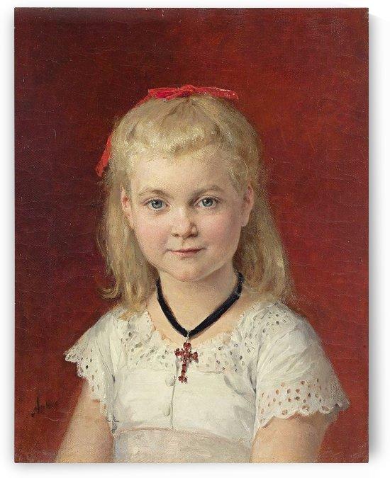 Bildnis Emilie Weiss, 1874 by Anker Albert
