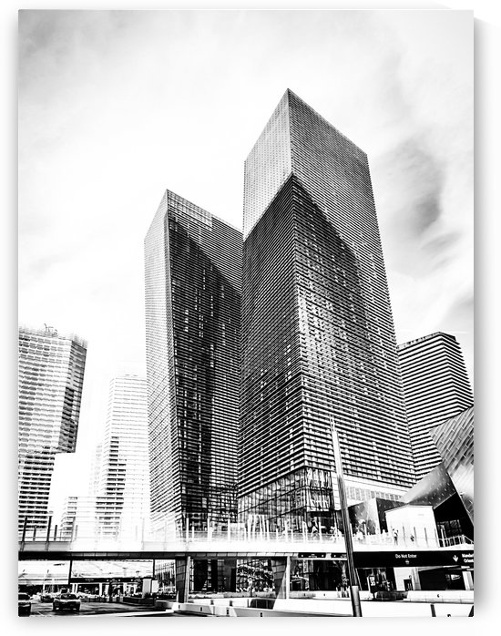 twin buildings at Las Vegas, USA in black and white by TimmyLA