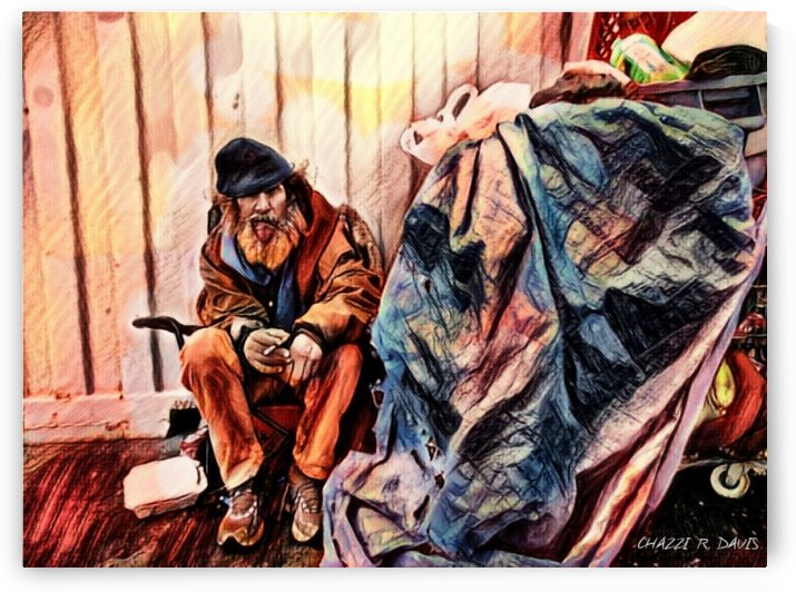 MR. GRUNT (homless man) by Chazzi R  Davis