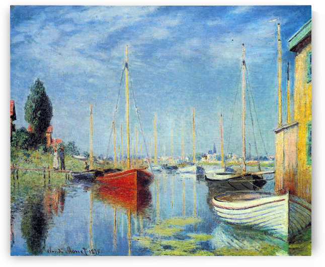 Pleasure Boats at Argenteuil by Monet by Monet