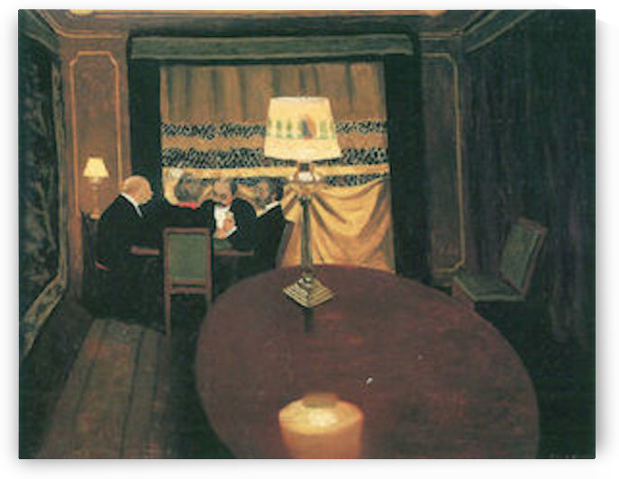 Poker players by Felix Vallotton by Felix Vallotton
