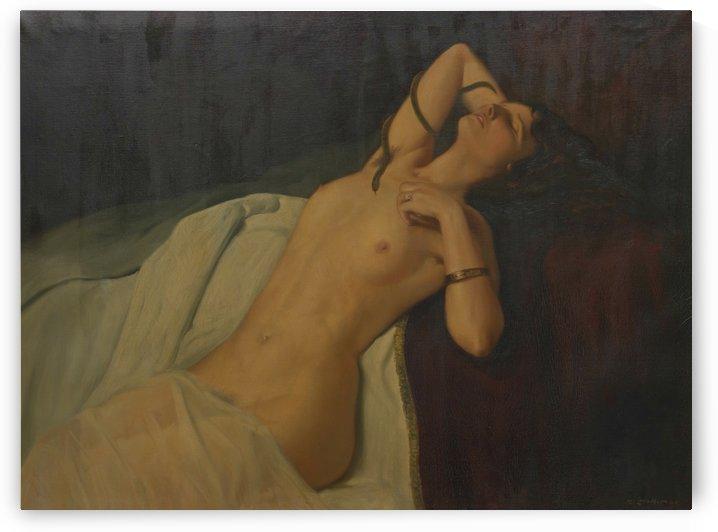 Nude Hungarian Lady by Istvan Szapudi-Laendler