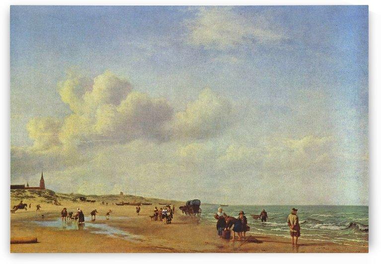 Het Strand van Scheveningen by Adriaen van de Velde