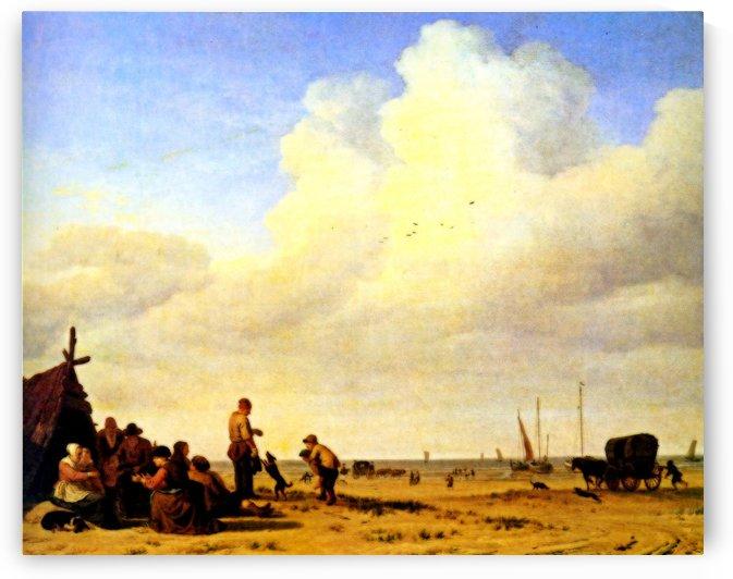 Beach Scene by Adriaen van de Velde