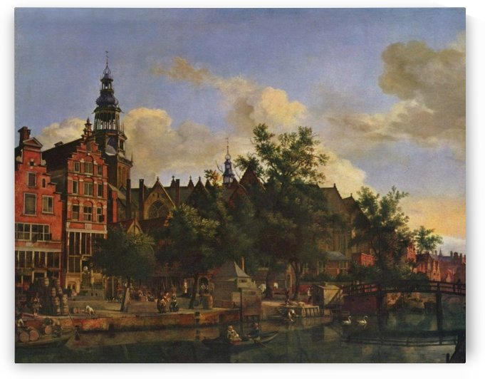 A view of Amsterdam by Adriaen van de Velde