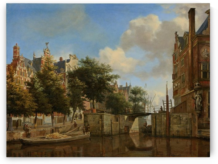 A view of the city by Adriaen van de Velde