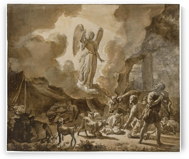 The Angel appearing to the Shepherds by Adriaen van de Velde