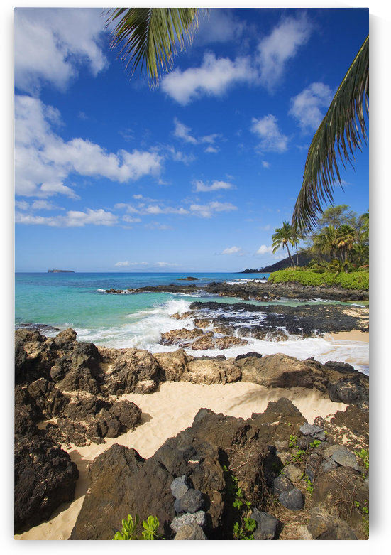 USA, Hawaii Islands, Maui, Maui Wai Or Secret Beach And Rocky Surroundings; Makena by PacificStock